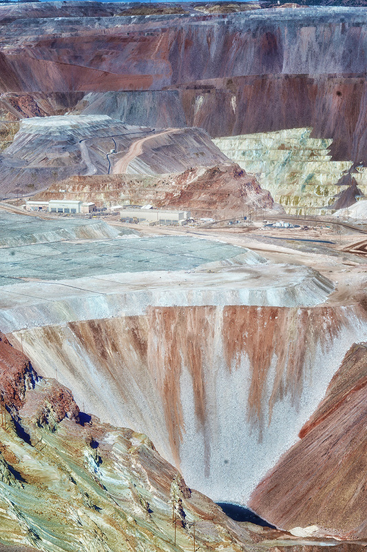 Layers of colors of earth Morenci open pit mine