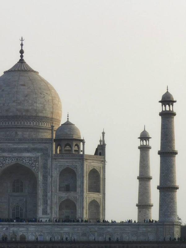 Taj Mahal from across the river - from the Moon Garden