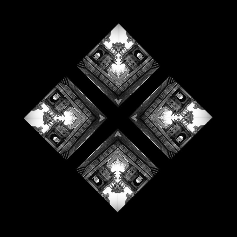 black and white yantra of catacombs
