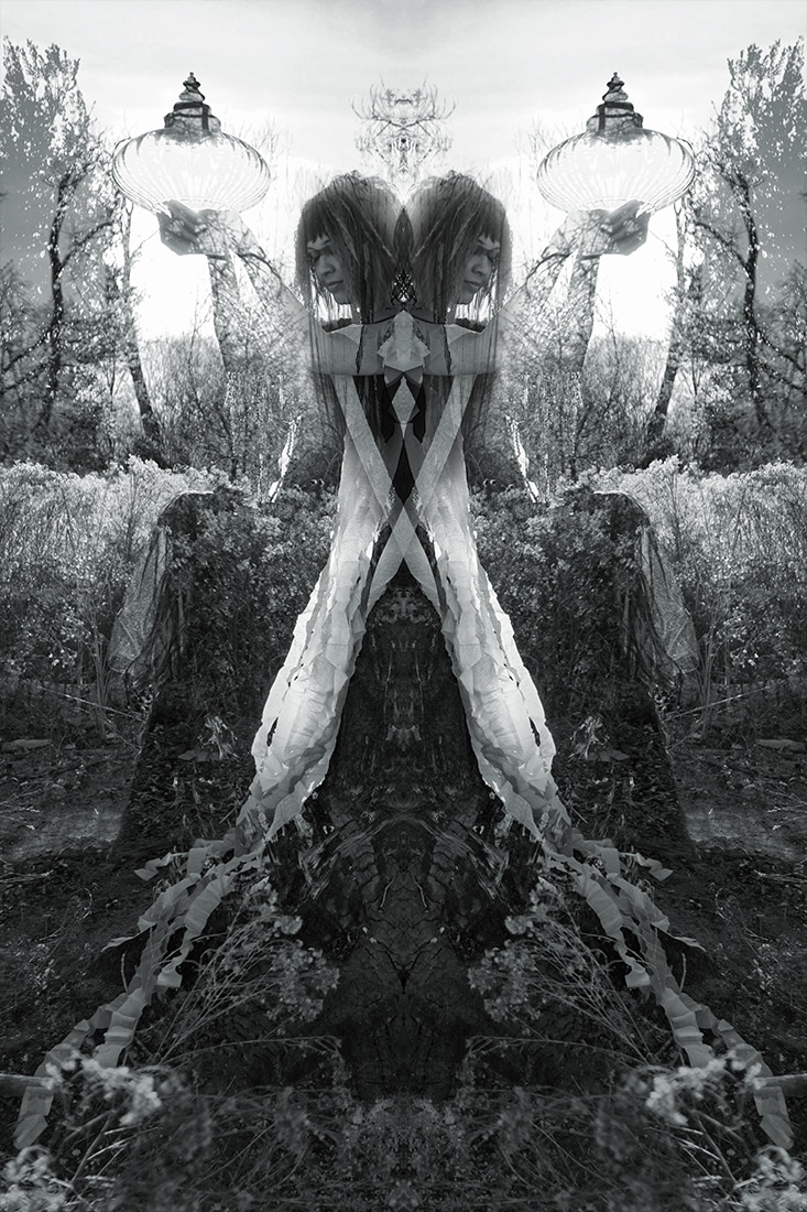 multiple exposure tree spirit offering