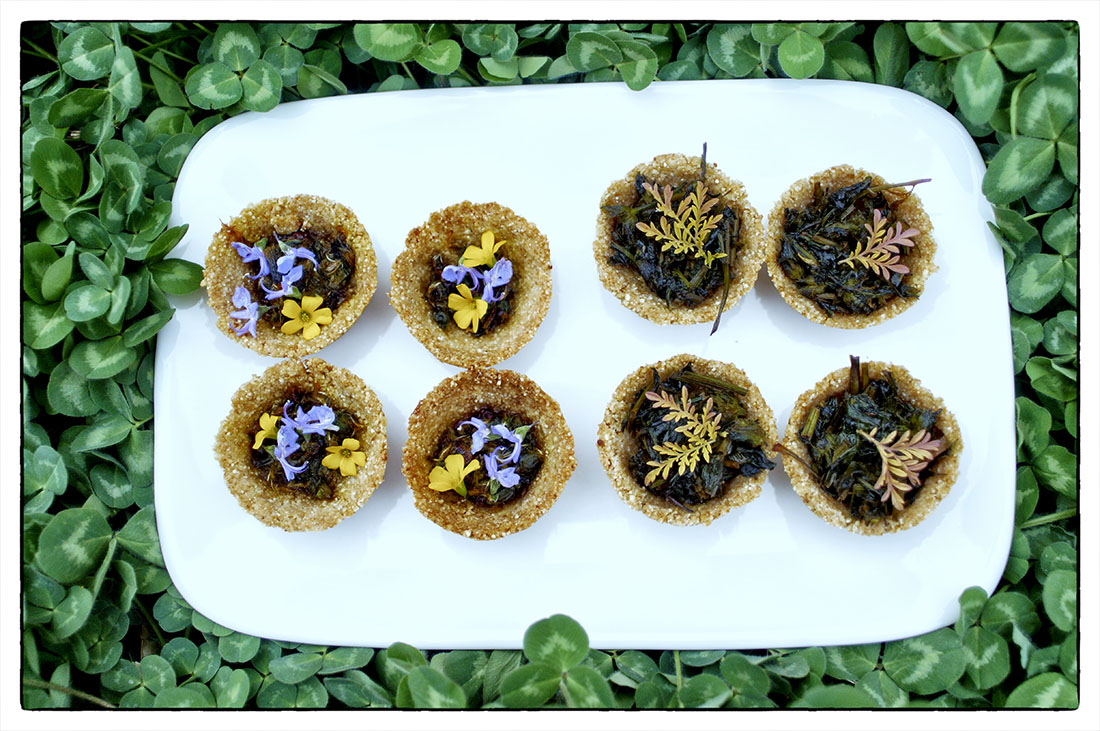 foraged food tartlettes