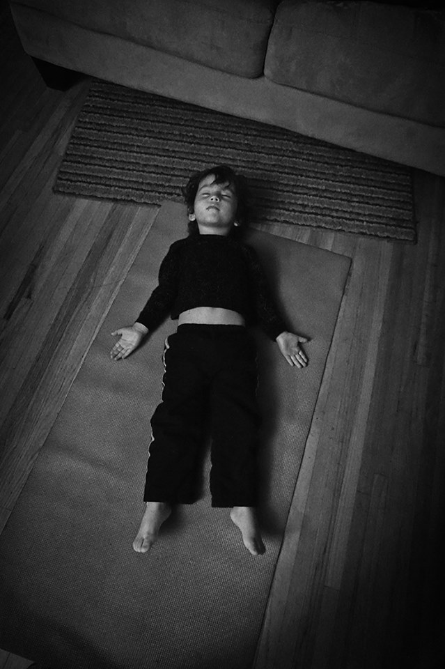 child in savasana