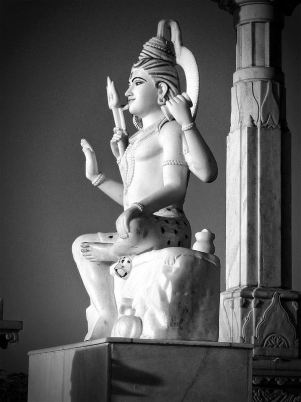 carved statue of Shiva