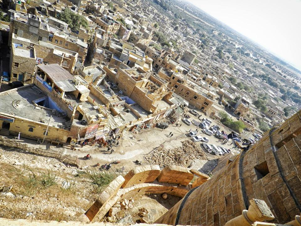 view of city of Jaisalmer from the top of the fort