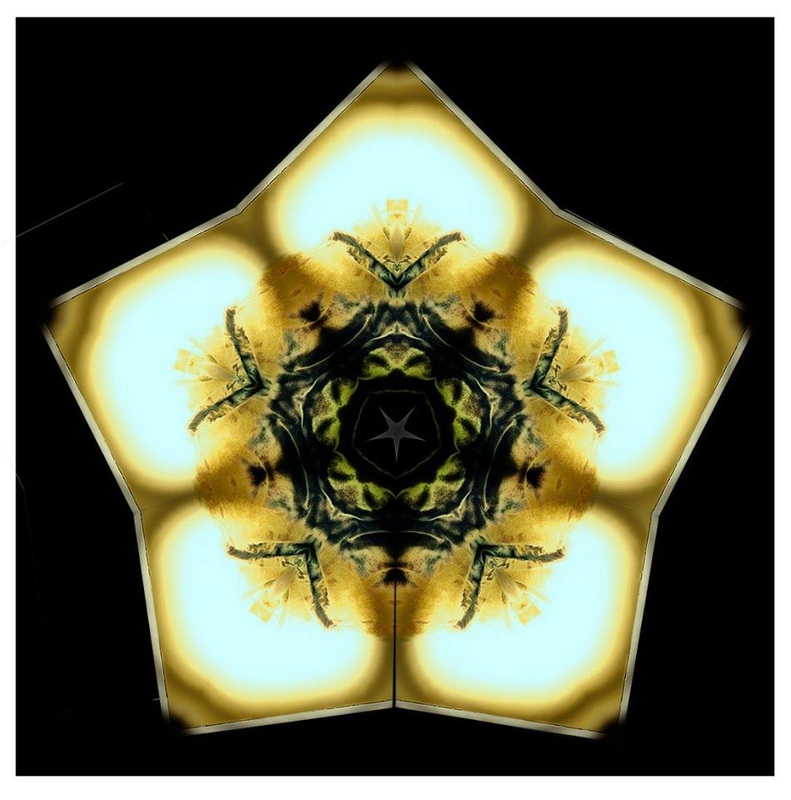 yellow and green star mandala