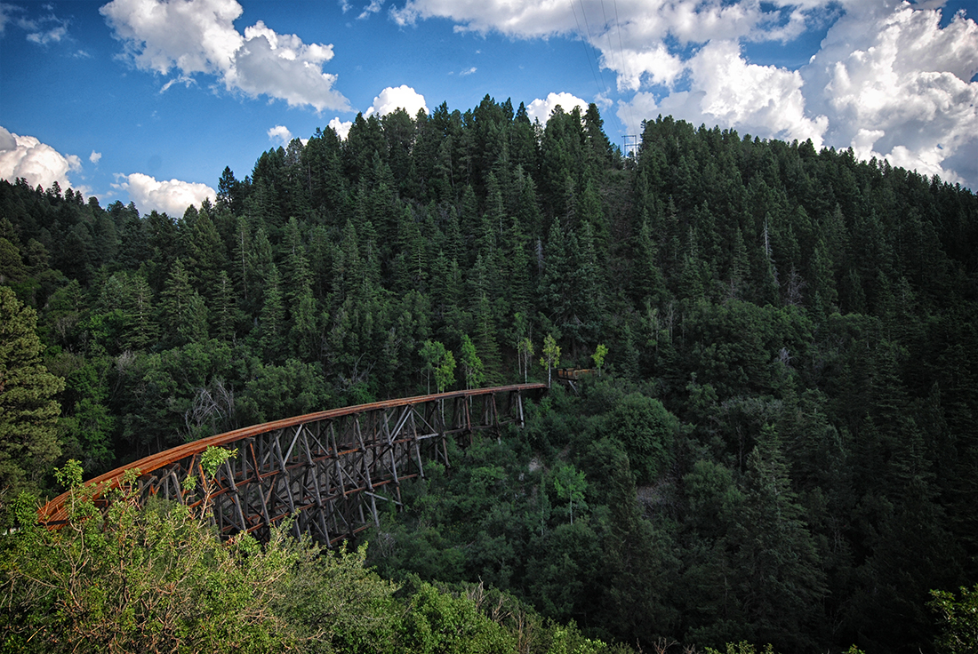 train bridge in Cloudcroft New Mexico