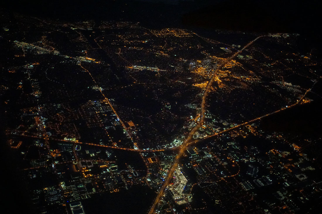 Houston aerial at night