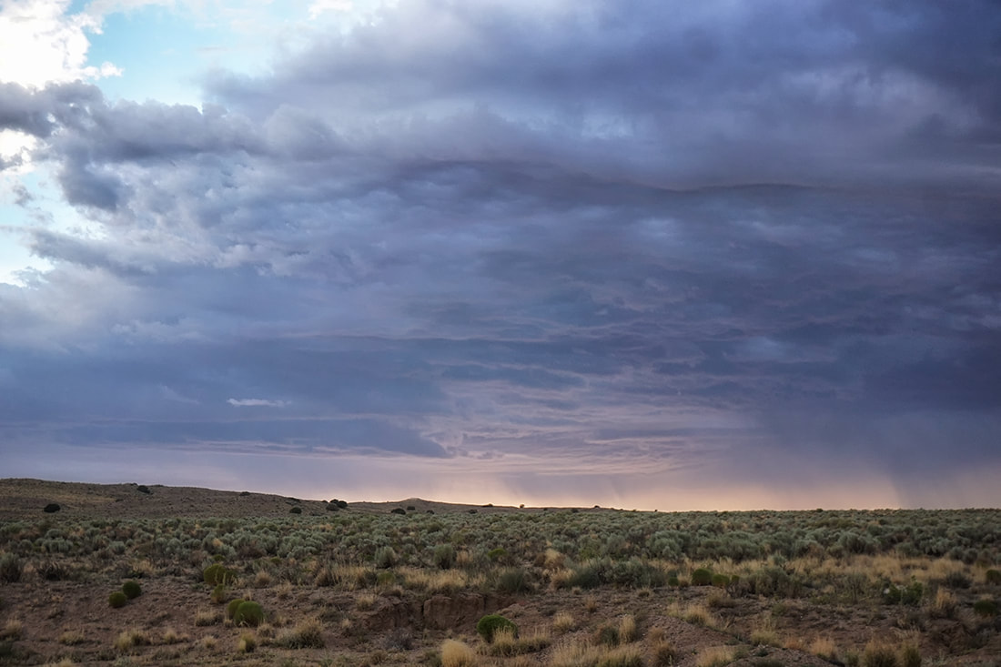 summer monsoon skies in new mexico