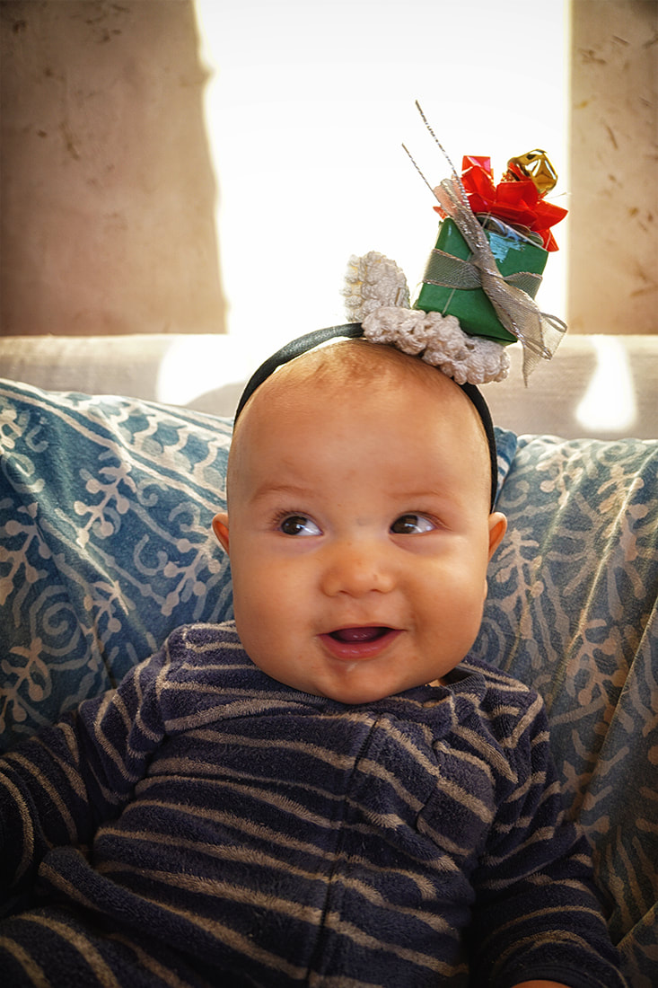 baby's first Christmas present headband