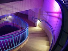 color changing lit up stairwell