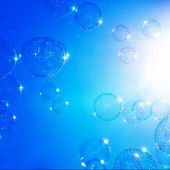 bubbles and sun