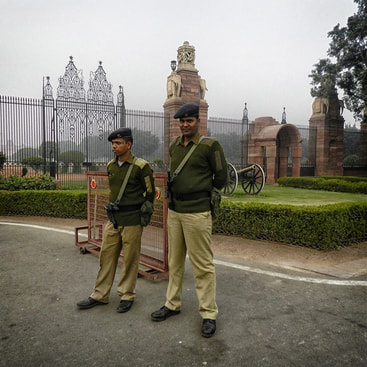 guards at president's house, New Delhi