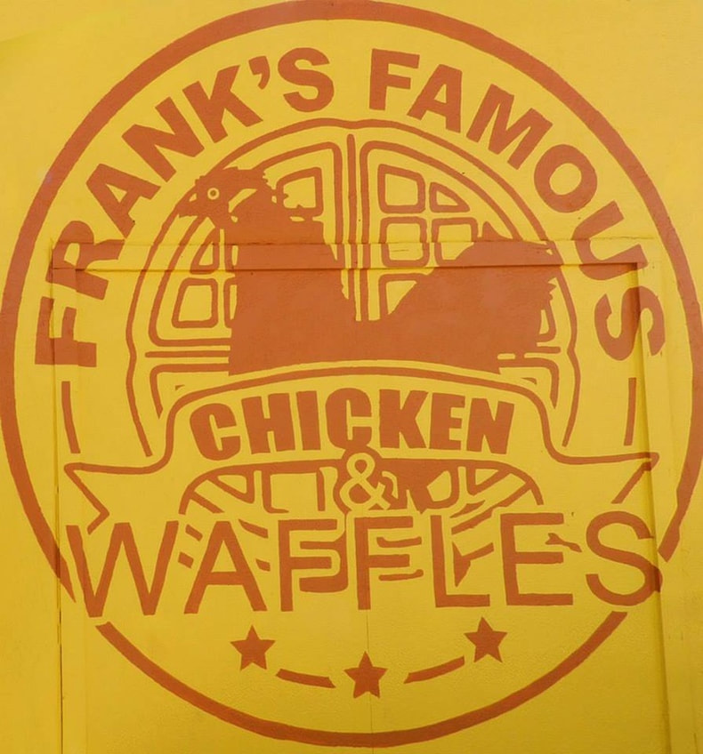 Frank's Famous Chicken and Waffles sign